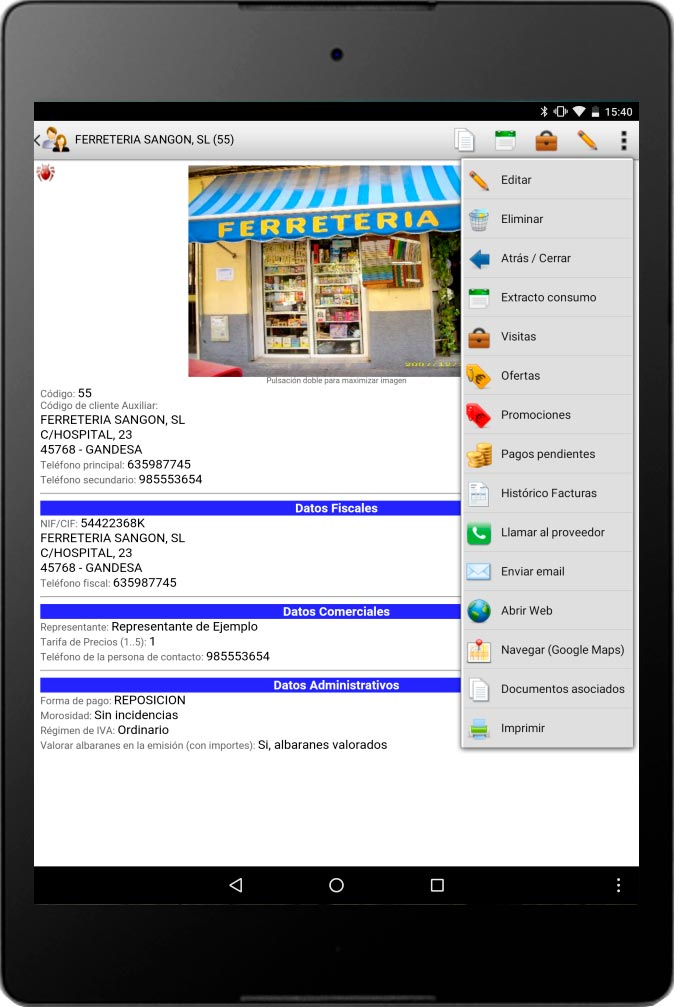 app gestion comercial iges
