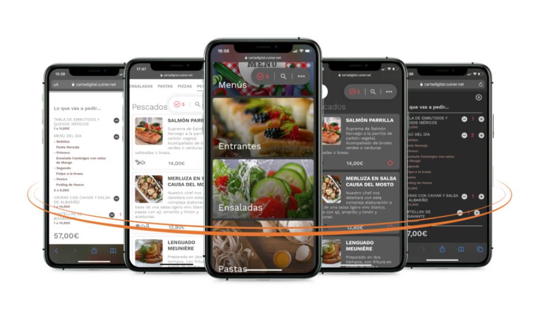 carta digital restaurante móvil qr
